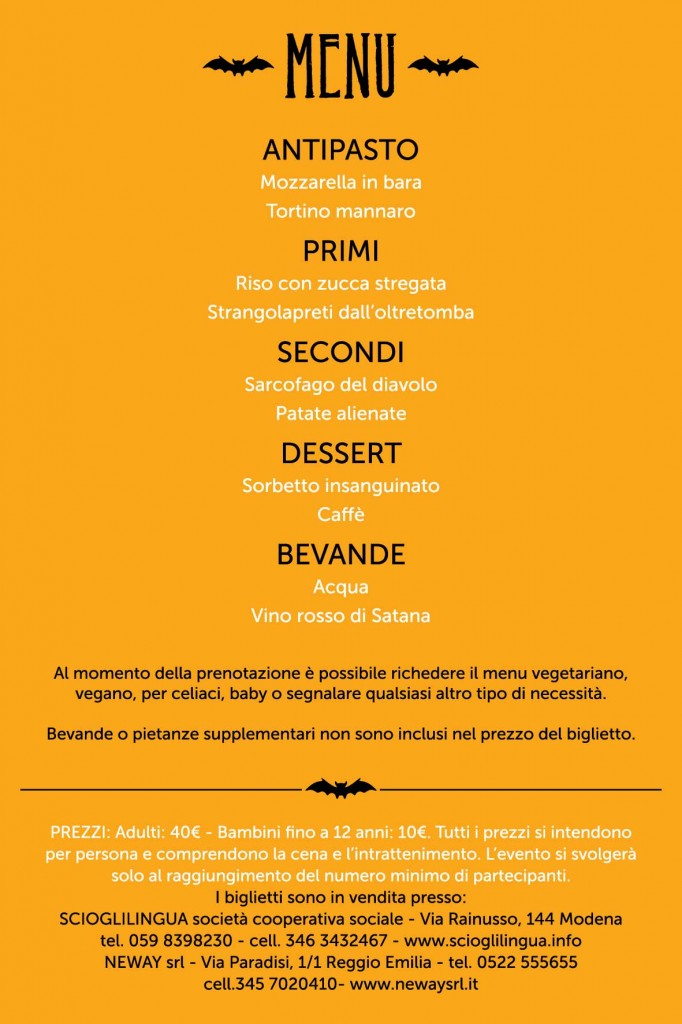 menu invito a cena con delitto 2012